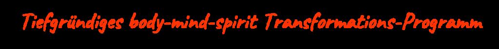 Tiefgründiges body-mind-spirit Transformations-Programm