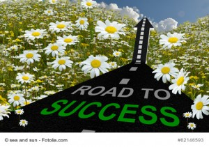 road to success with flowers