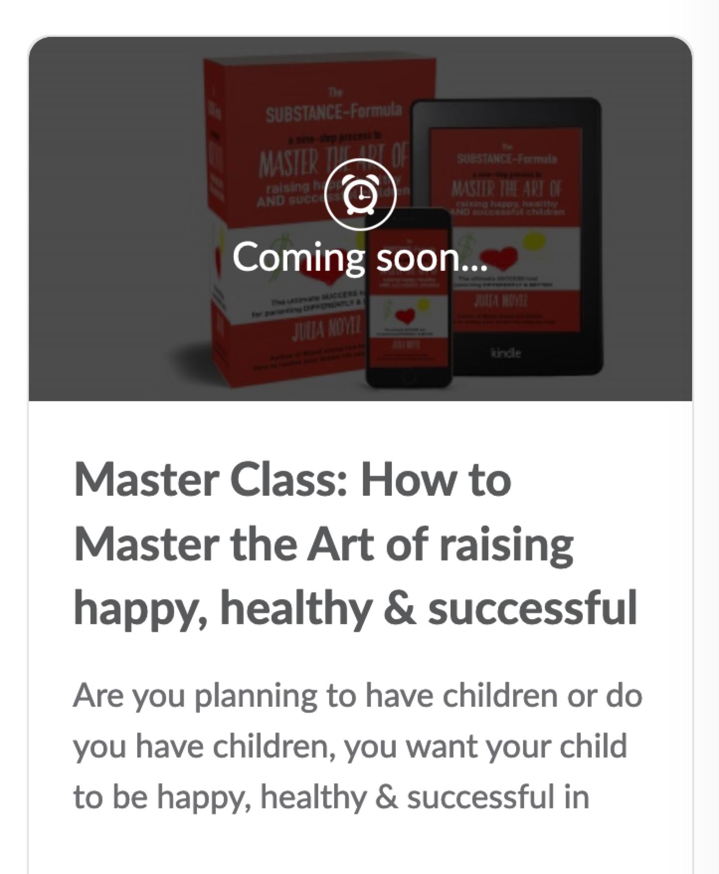 Master class children